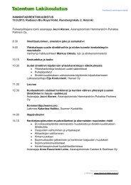HANKINTADIREKTIIVIUUDISTUS 10.9.2013, Radisson ... - Talentum