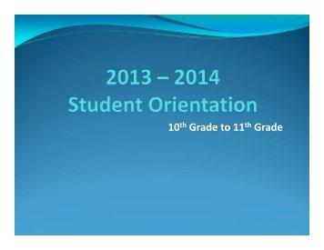 10th Grade to 11th Grade