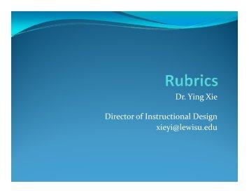 Rubrics - Lewis University