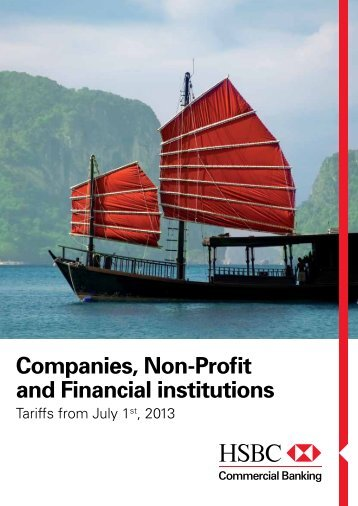Companies, Non-Profit and Financial institutions - HSBC