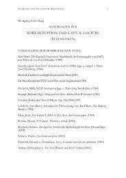 MARX-REZEPTION UND KAPITAL-LEKTÃœRE - Wolfgang Fritz Haug