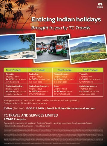 Enticing Indian holidays Brought to you by TC Travels - Tata Capital