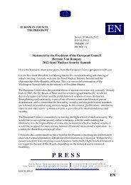 Statement by President Van Rompuy - Europa