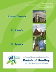 Parish of Huntley - Growing in Faith Together