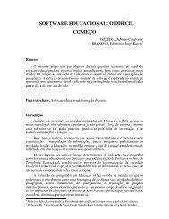 SOFTWARE EDUCACIONAL: O DIFÍCIL COMEÇO - cinted/ufrgs