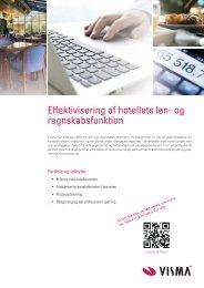 finde inspiration i vores produktblad rettet mod hoteller - Visma