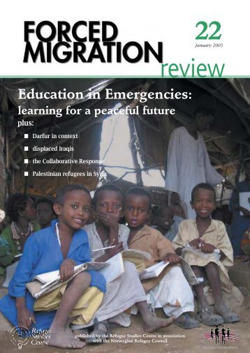 Education in emergencies - Forced Migration Review
