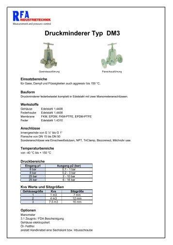DM3301 - Druckminderer