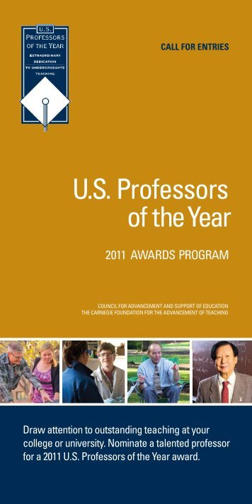 U.s. Professors of theYear - US Professor of the Year Awards