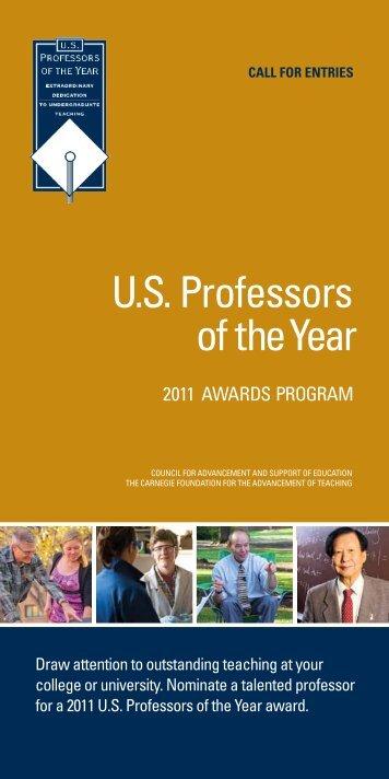 U.s. Professors of theYear - US Professor of the Year Awards
