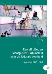 Een efficiënt en klantgericht P&O-beleid voor de federale overheid