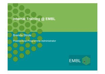 EMBL PhD programme and postdoctoral opportunities - European ...