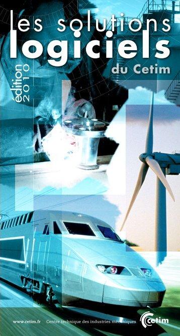 Catalogue logiciels 2010.pdf - Cetim