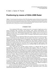 Positioning by means of 5GHz UWB Radar - Technische Universität ...