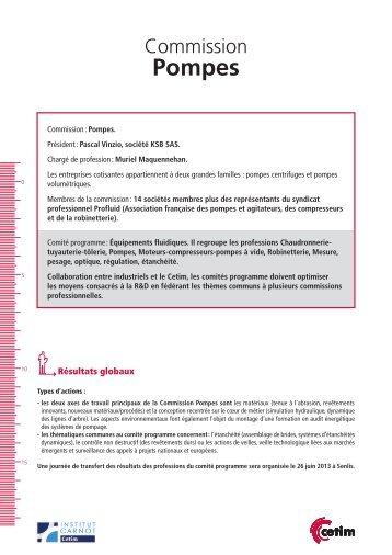 Fiche Commission Pompes - Juin 2013 (280 Ko) - Cetim
