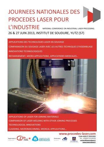 JNPLI 2013 - Programme et bulletin d'inscription - Cetim