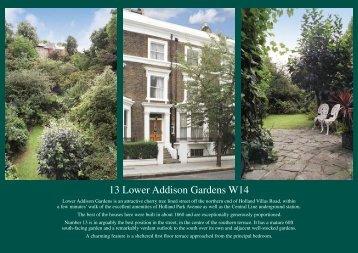 13 Lower Addison Gardens W14 - Pereds