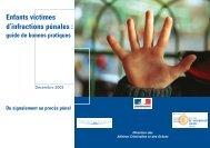 Enfants victimes d'infractions pénales : guide de bonnes pratiques