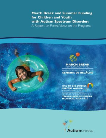 March Break and Summer Funding for Children and ... - Autism Ontario