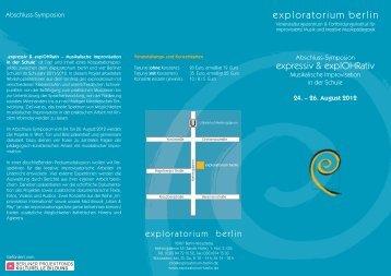 exploratorium berlin - Berliner Projektfonds Kulturelle Bildung