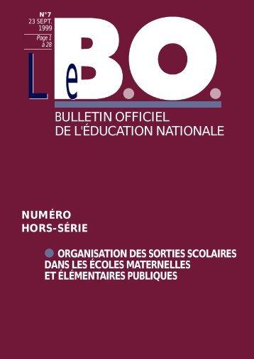 B.O. hors-série n°7 23 sept. 1999 - Académie de Grenoble