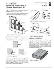Reversible French Door & Window Sash Router Bit - Lee Valley Tools