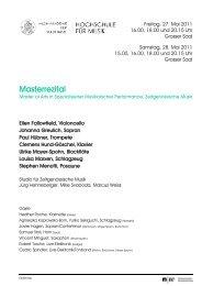 Masterrezital - Musik-Akademie Basel