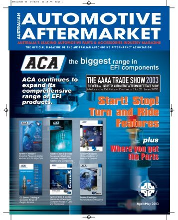 APRIL/MAY 03 - Australian Automotive Aftermarket Magazine