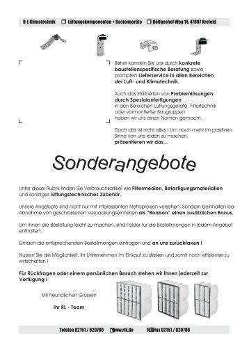 Bestellmenge - RLK - Klimatechnik