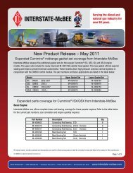 New Product Release – May 2011 - Interstate McBee