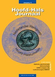 Hoofd-Hals Journaal 30 december 2003 - NWHHT