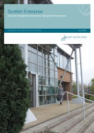 Scottish Enterprise: Account management services - Audit Scotland
