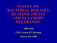 status of bacterial diseases of stone fruits and nut crops in ... - Cost 873