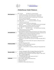 Abdulrhman Salah Shaheen - KFUPM - King Fahd University of ...