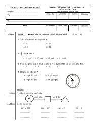 Đề kiểm tra giữa kỳ 1 khối 3 - Nguyễn Bỉnh Khiêm