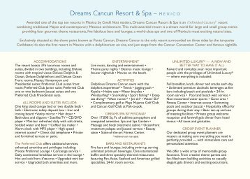 Dreams Cancun Resort & Spa – MEXICO