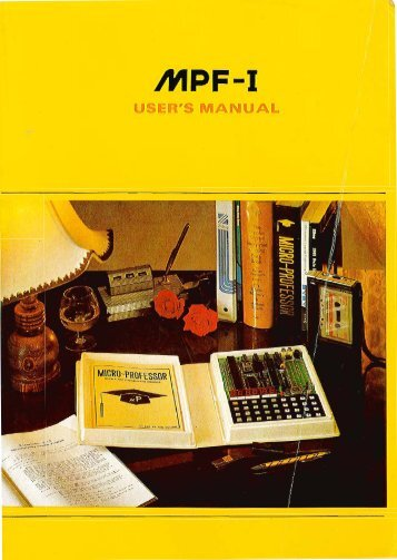 MPF-I User's manual
