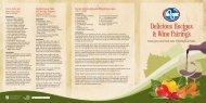 Delicious Recipes & Wine Pairings - Michigan Wines