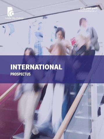 International Prospectus - Leeds City College