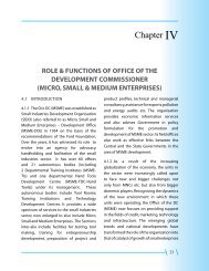Chapter IV - Ministry of Micro, Small and Medium Enterprises