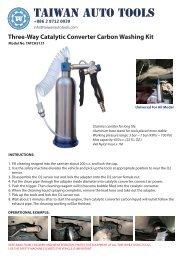 Three-Way Catalytic Converter Carbon Washing Kit - TATCH3121
