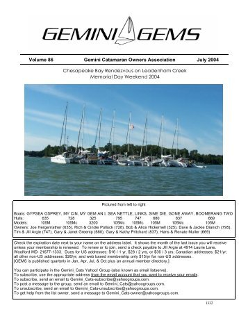 Issue #86, Jul 2004 - Gemini Gems