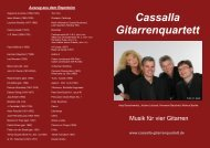 Info als pdf Datei - Cassalla Gitarrenquartett