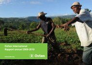 Oxfam International Rapport annuel 2009-2010