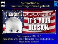 Pre- and posttransplant vaccination of transplant recipients