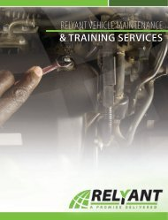 RELYANT VEHICLE MAINTENANCE & TRAINING SERVICES