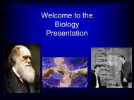 Welcome to the Biology Presentation - The Blue School
