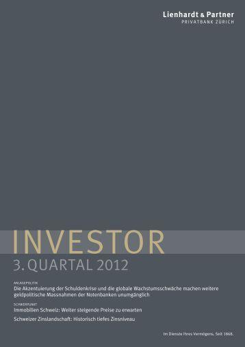 Investor 3. Quartal 2012 - Lienhardt & Partner - Privatbank Zürich