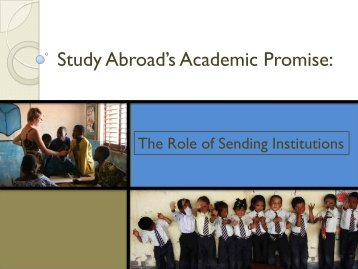 Study Abroad's Academic Promise: - Council on International ...