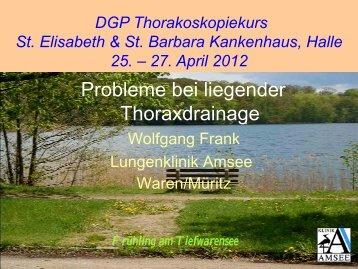 Probleme bei liegender Thoraxdrainage - Krankenhaus St ...